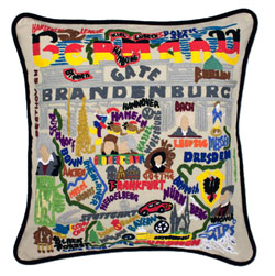 Germany Embroidered Pillow