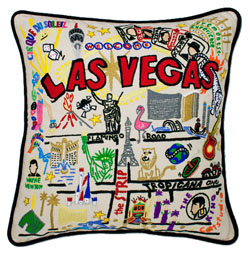 Las Vegas Embroidered Pillow