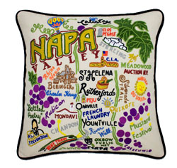 Napa Valley Embroidered Pillow