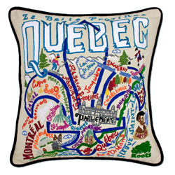 Quebec Embroidered Pillow