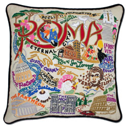 Rome Embroidered Pillow