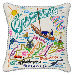 Hamptons Embroidered Pillow