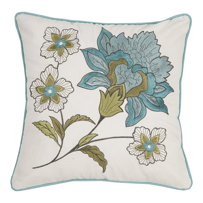 Adrienne Meadow Embroidered Pillow