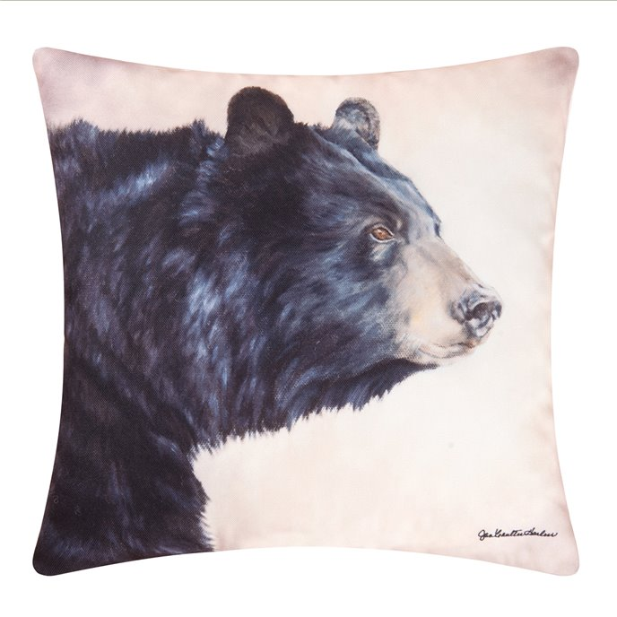 Caleb Bear Indoor/Outdoor Pillow