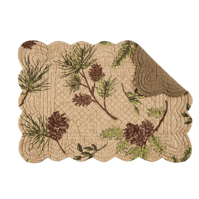 Woodland Retreat Rectangular Quilted Placemat
