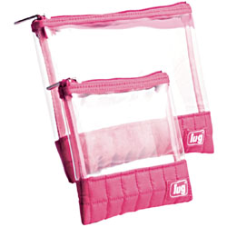 Lug Clear View Envelopes 2 Pak - Rose Pink