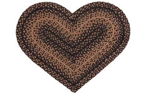 Ebony 20 X 30 Heart Rug