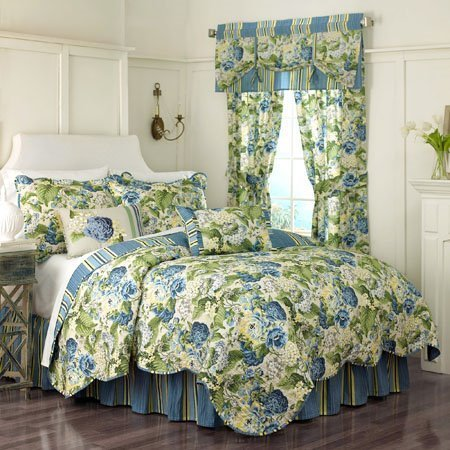 Floral Flourish King Waverly Quilt Set