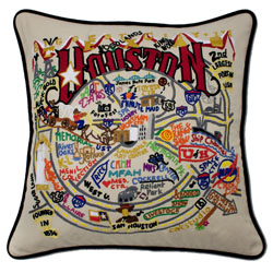Houston Embroidered Pillow