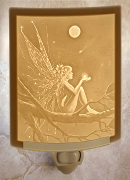 Catch a Falling Star Fairy Night Light by Porcelain Garden