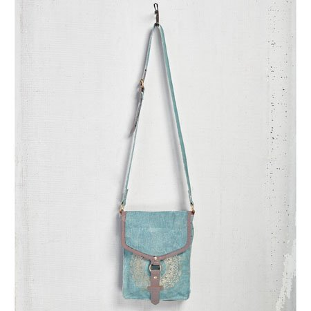 Mona B. Medallion Canvas Crossbody