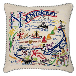 Nantucket Embroidered Pillow