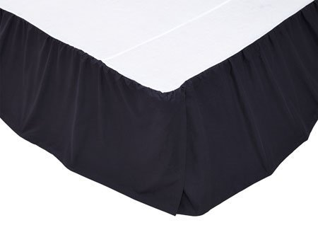Solid Navy King Bed Skirt