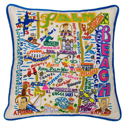 Palm Beach Embroidered Pillow