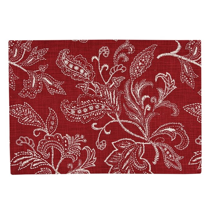 Stitches Print Placemat - Red