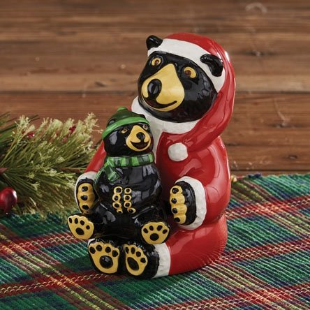 Santa Bear & Baby Bear Salt & Pepper Set