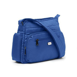 Lug Infinity Shimmy Cross-Body Bag - Cobalt Blue