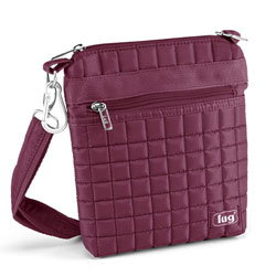 Lug Skipper Shoulder Pouch - Cranberry Red