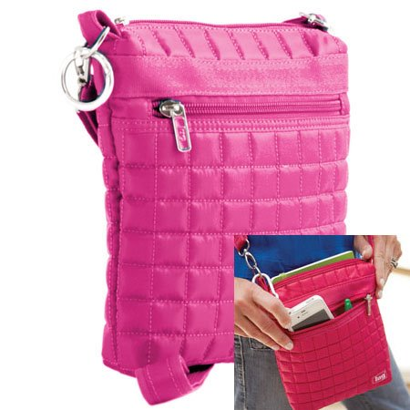 Lug Skipper Shoulder Pouch - Rose Pink