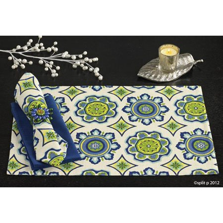 Kaleidoscope Lapis Placemat by Split-P