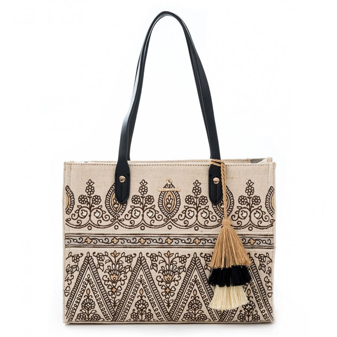 Henna Embroidered Box Tote by Spartina 449 | P. C. Fallon Co.