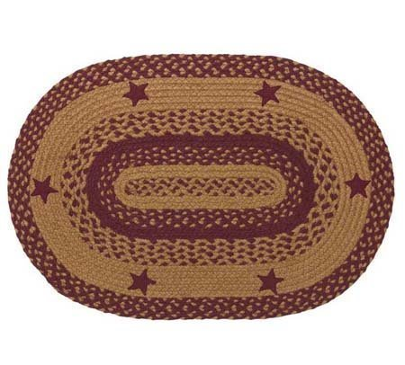 Star Wine 5 ft X 8 ft Rug Oval