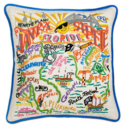 Tampa-St. Pete Embroidered Pillow