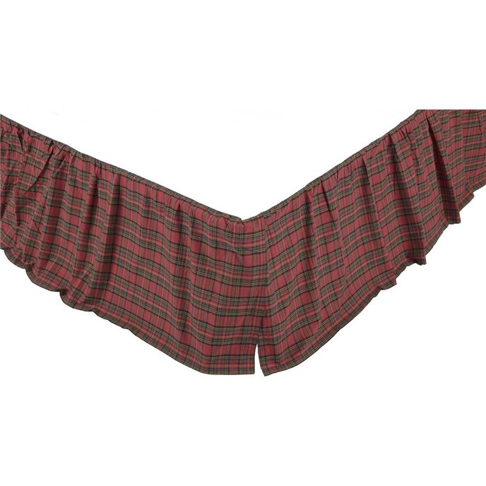 Tartan Red Plaid Twin Bed Skirt
