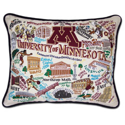 University of Minnesota Embroidered Pillow