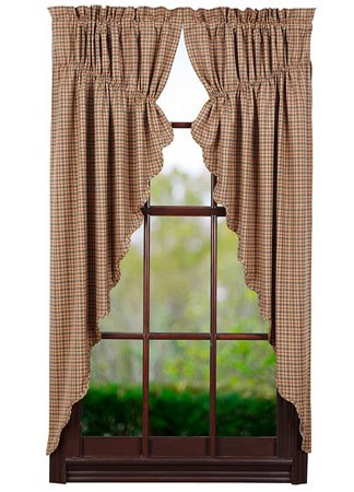 Millsboro Scalloped Prairie Curtains 63 x 36 x 18
