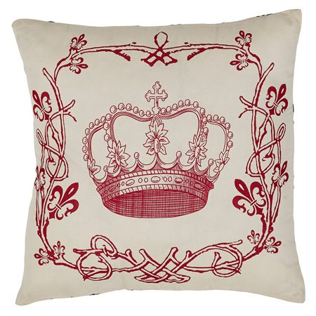 Elysee Stenciled Crown Pillow