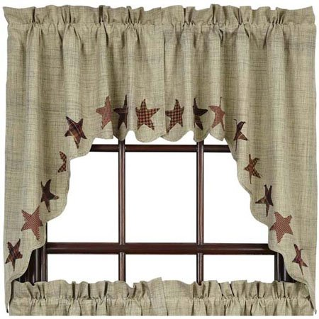Abilene Star Swag Set of 2 63 x 36