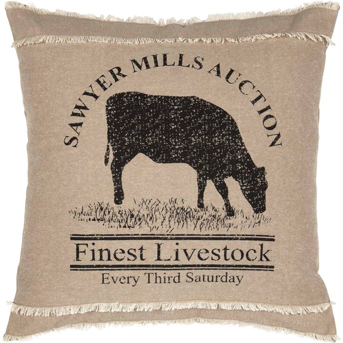 Sawyer Mill Cow Pillow