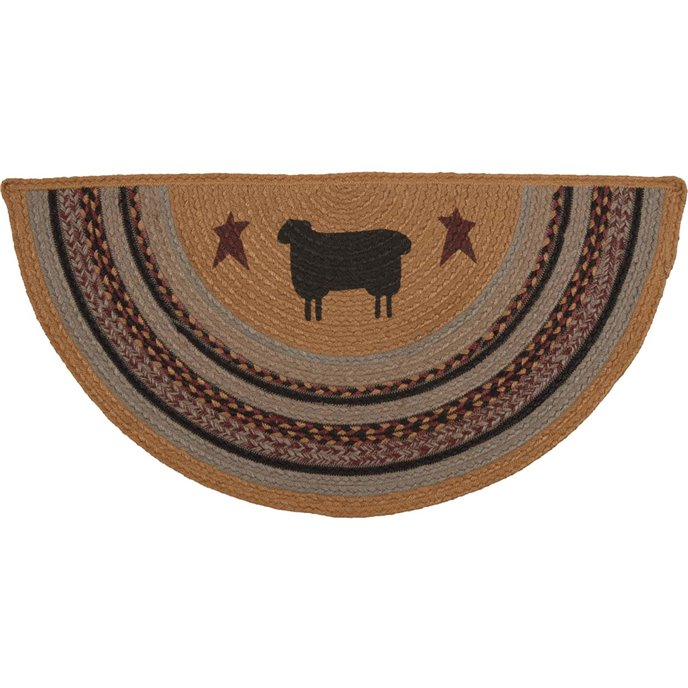 Heritage Farms Sheep Jute Rug Half Circle (16.5x33)