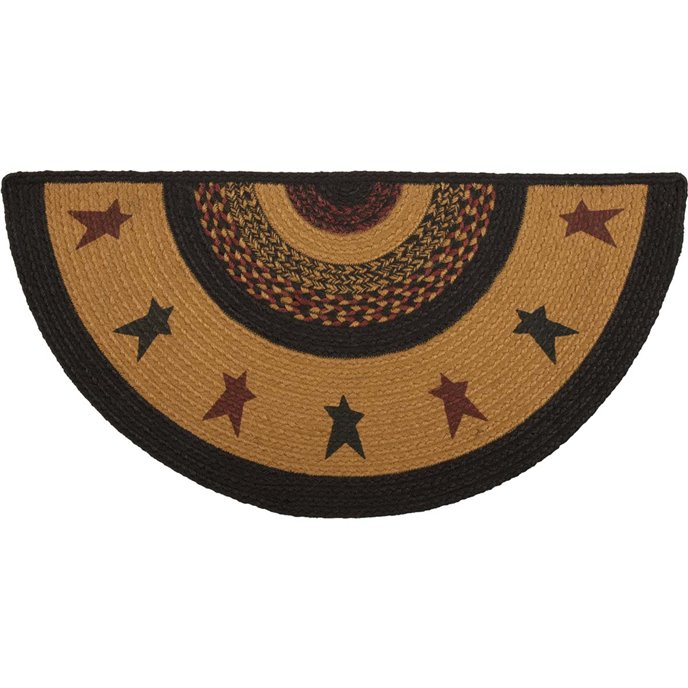 Heritage Farms Star Jute Rug Half Circle (16.5x33)
