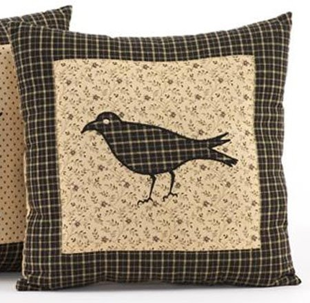 Kettle Grove Crow Pillow 16 x 16
