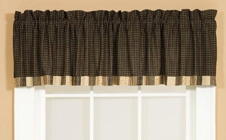 Kettle Grove Unlined Block Border Valance 16 x 72