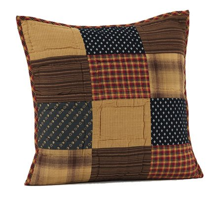 Patriotic Patch Quilted Pillow 16 x 16