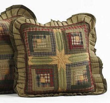 Tea Cabin Quilted Pillow 16 x 16