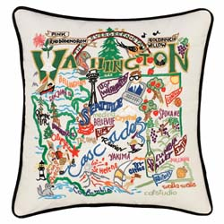 Washington Embroidered Pillow