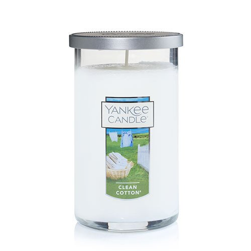 Yankee Candle Clean Cotton Medium Perfect Pillar Candle