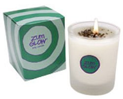 Zum Glow Lavender Mint Soy Candle in Glass (7 oz.)
