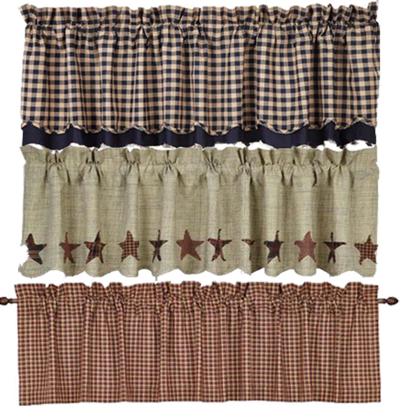 Kitchen Valances and Tiers