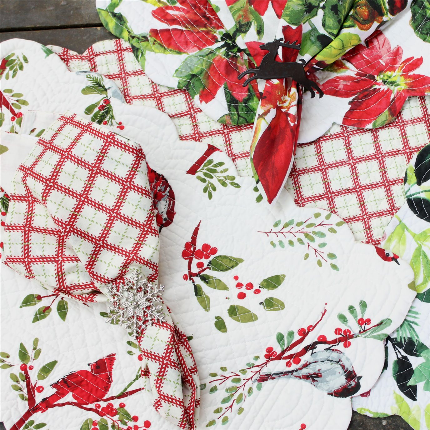 Fall & Christmas Placemats, Napkins, Accessories