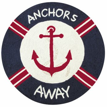 Sail Away Anchors Away Hooked Rug