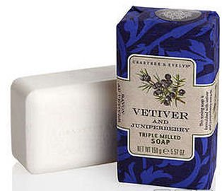Crabtree & Evelyn Vetiver and Juniperberry Triple Milled Soap (5.57 oz bar)