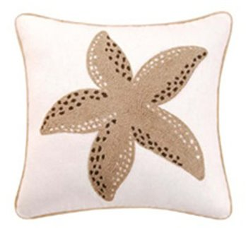 St. Lucia Starfish Rice Stitch Pillow