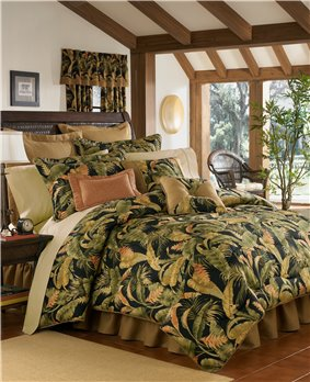 "La Selva Black Cal King Thomasville Comforter Set (15"" bedskirt)"
