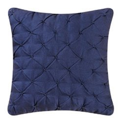Navy Pintucked Feather Down Pillow
