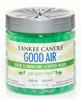 Yankee Candle Just Plain Fresh Good Air Odor Eliminating Scented Beads